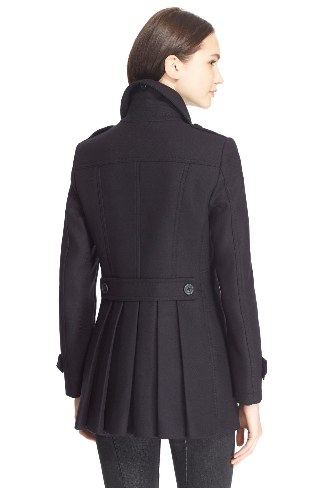 Alternate Image 2  - Burberry Brit 'Needlethorpe' Pleated Back Peacoat