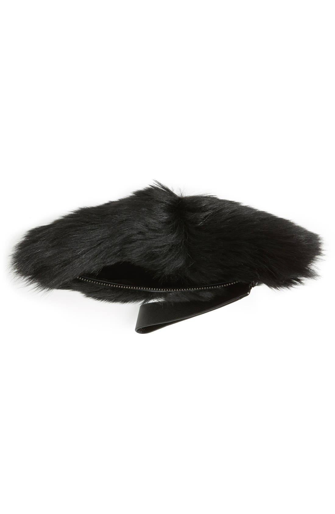 Alternate Image 4  - MARC BY MARC JACOBS Shearling Square Clutch