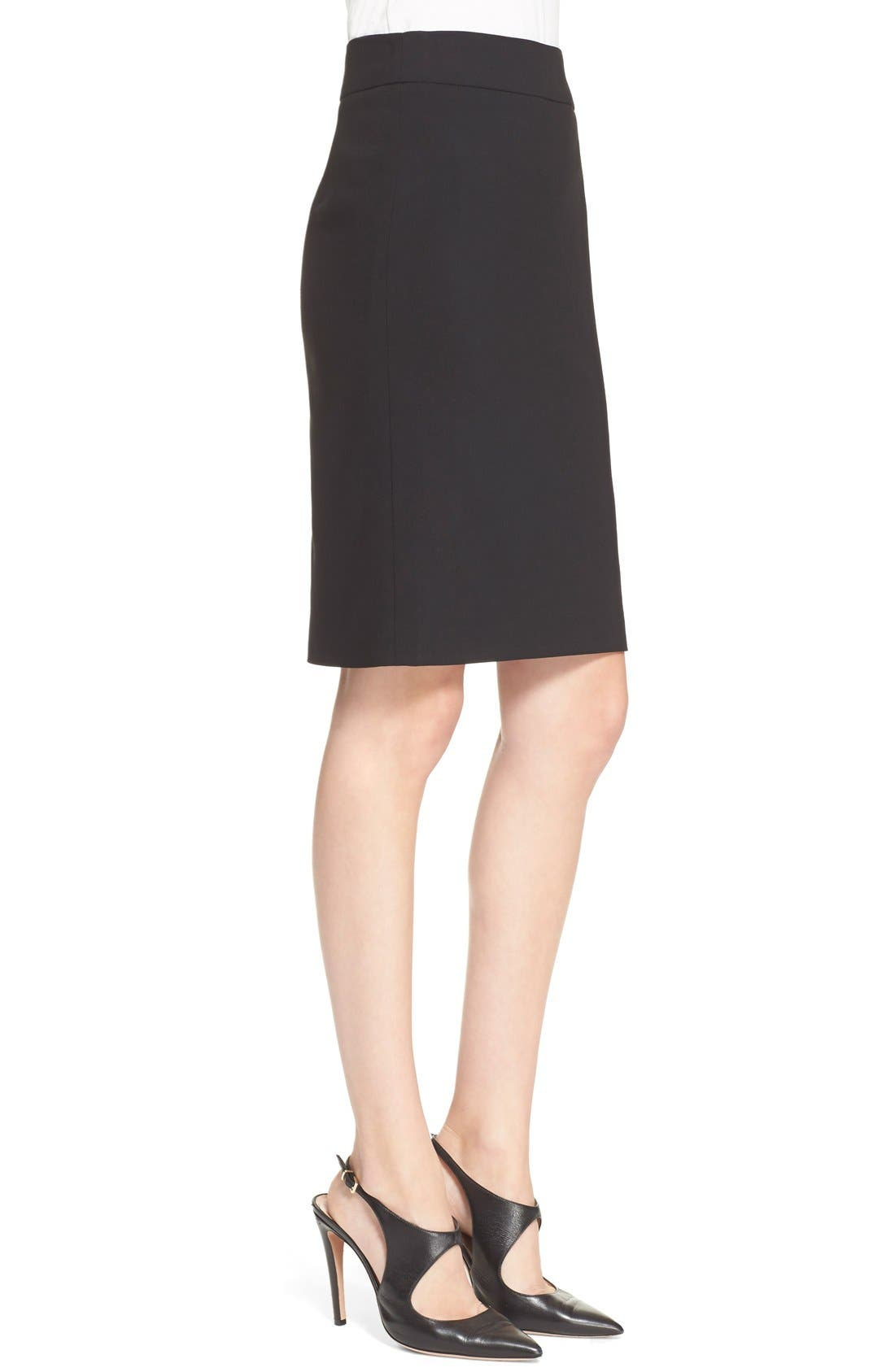 Alternate Image 5  - Armani Collezioni Featherweight Wool Pencil Skirt