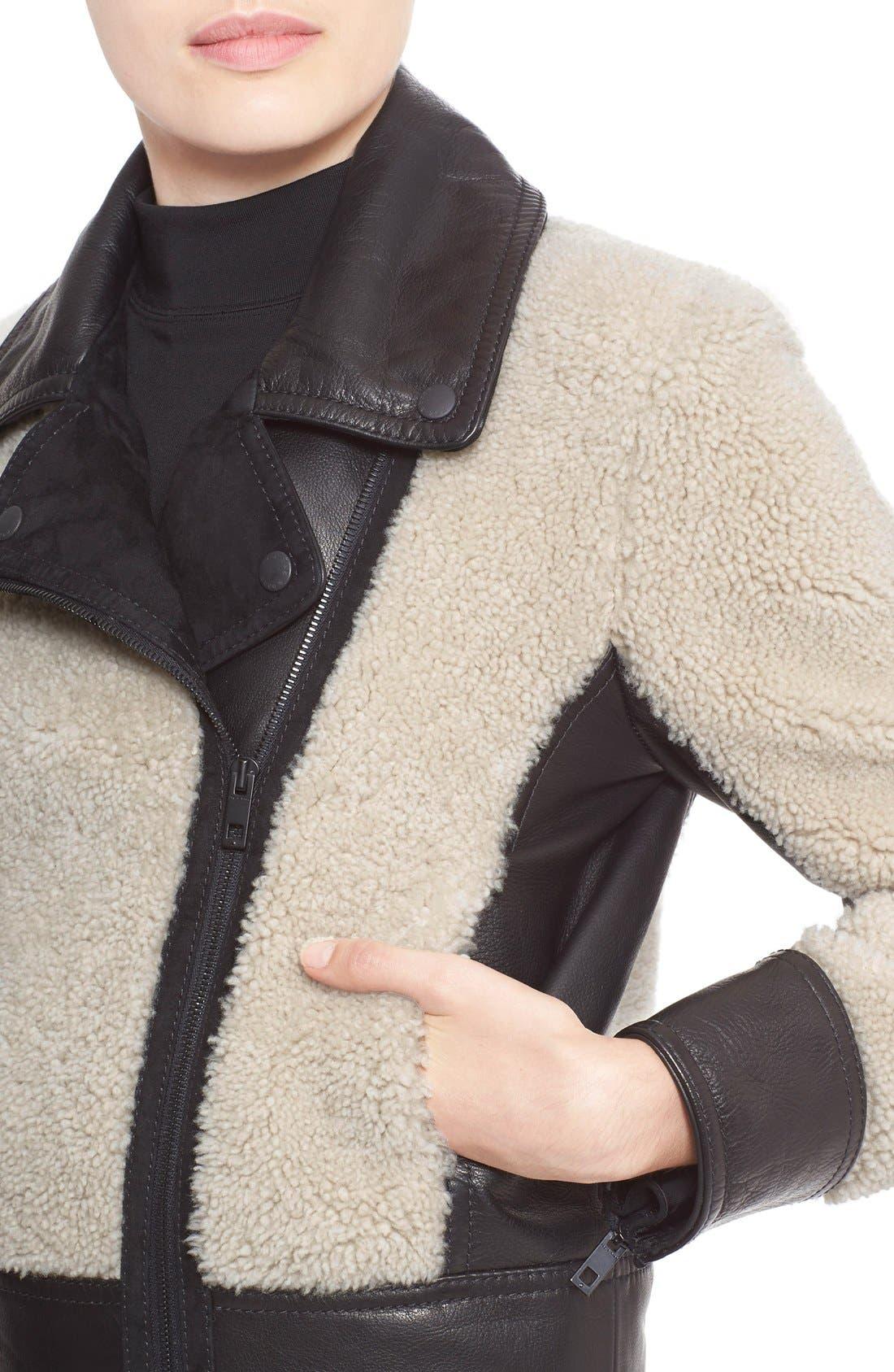 Alternate Image 4  - rag & bone 'Billie' Leather TrimGenuine Shearling Jacket