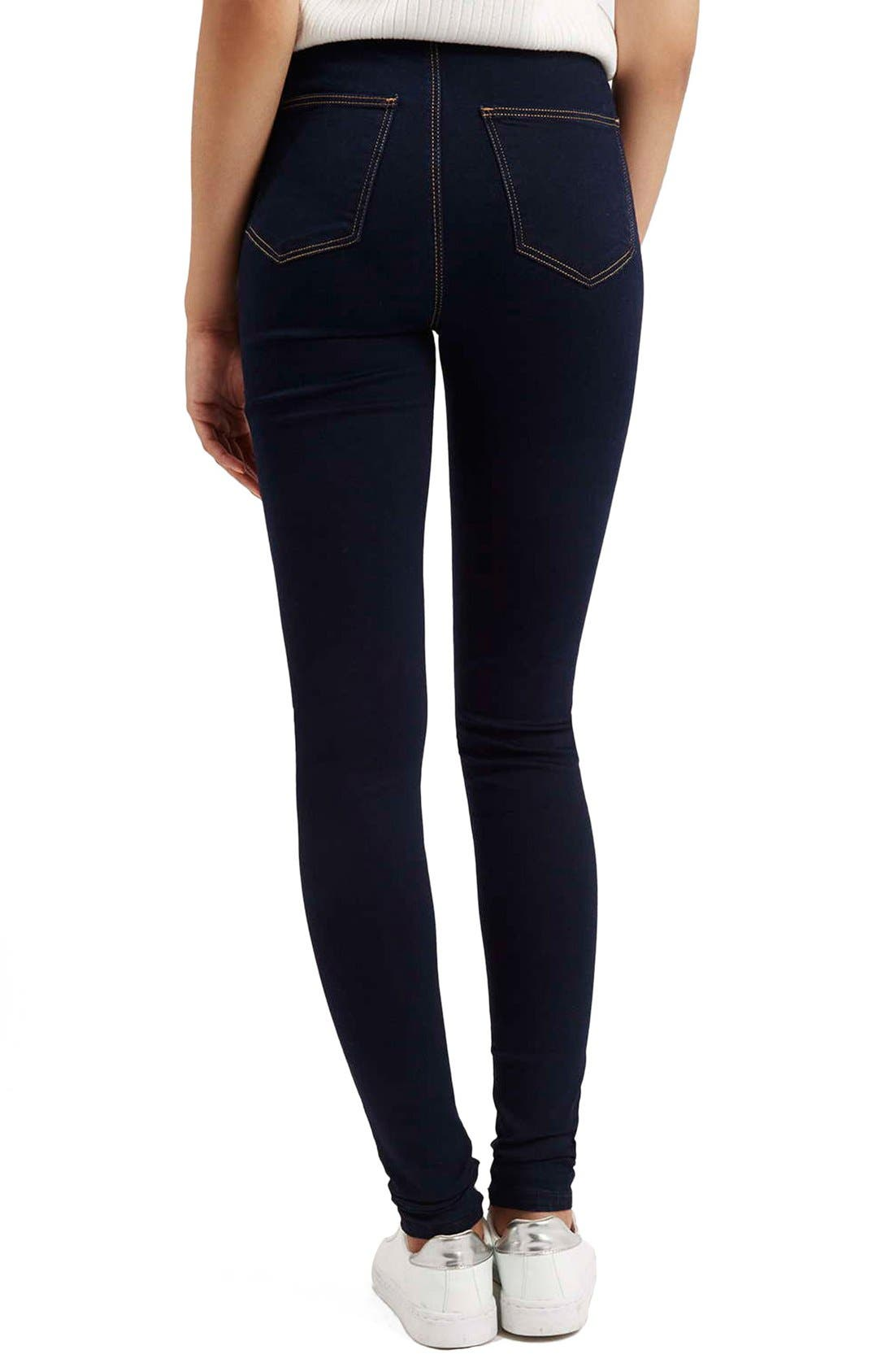 Alternate Image 3  - Topshop Moto 'Joni' Super Skinny Jeans (Mid Denim) (Tall)