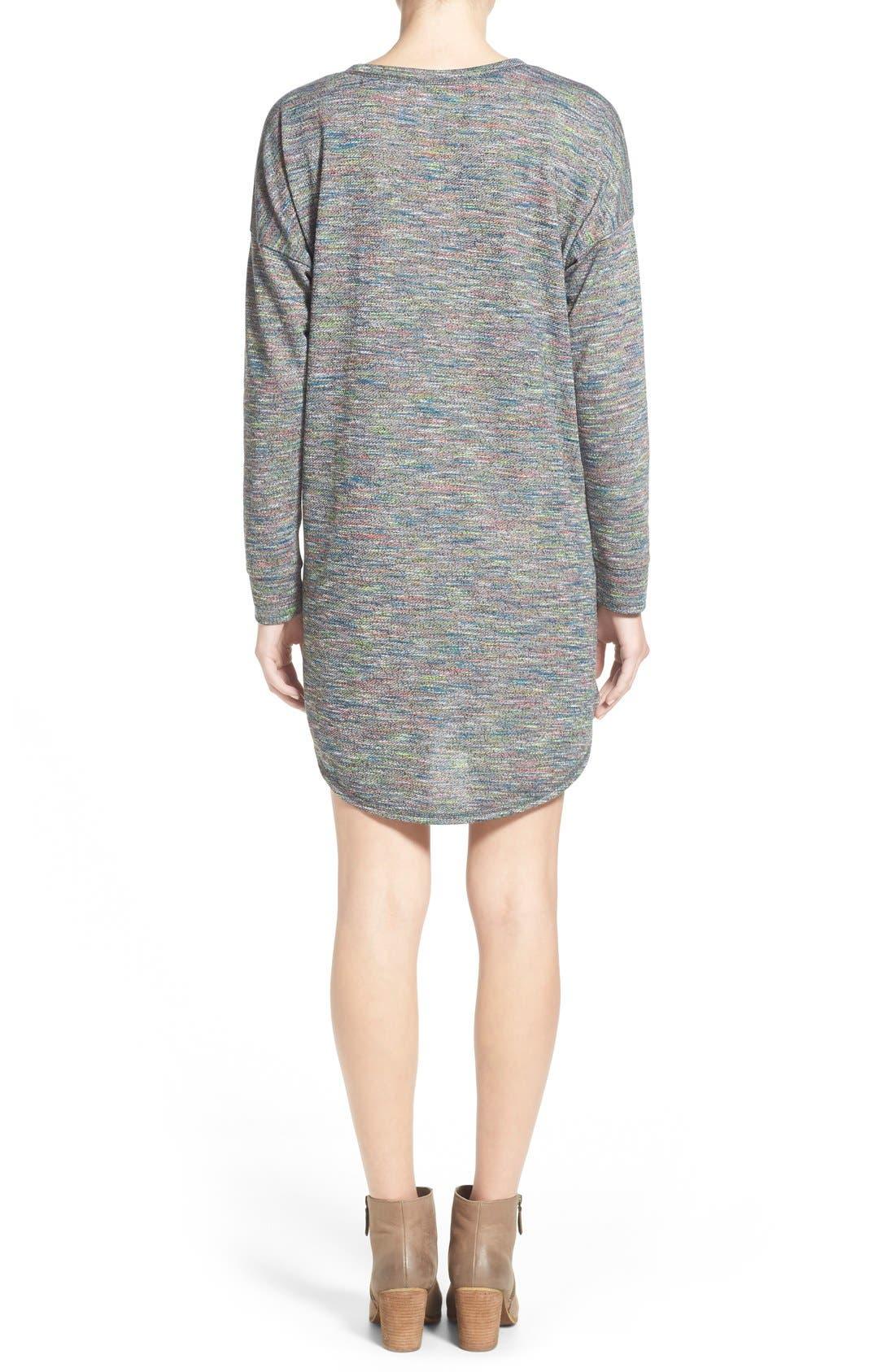 Alternate Image 3  - One Clothing Space Dye Sweater Dress