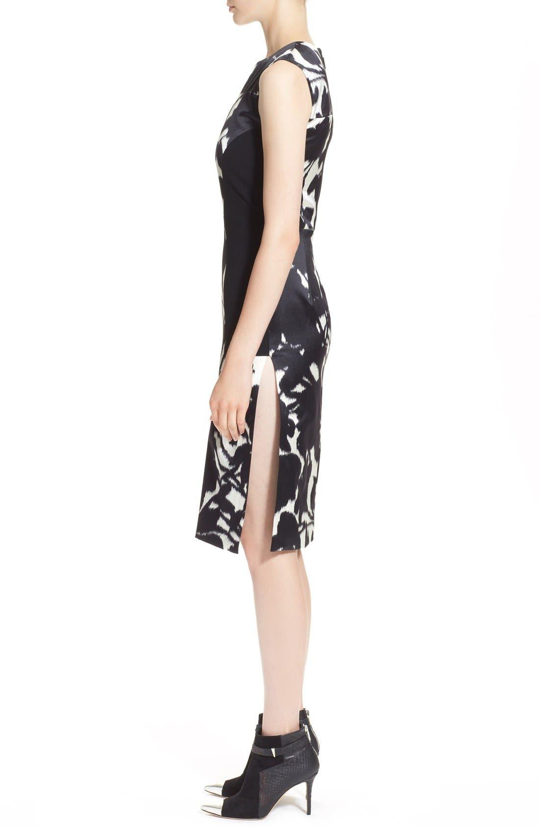 Alternate Image 4  - Prabal Gurung Floral Print Sleeveless Duchesse Satin Sheath Dress