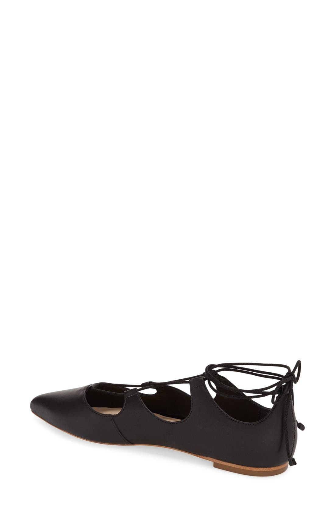 Alternate Image 2  - Loeffler Randall 'Ambra' Pointy Toe Ghillie Flat (Women)