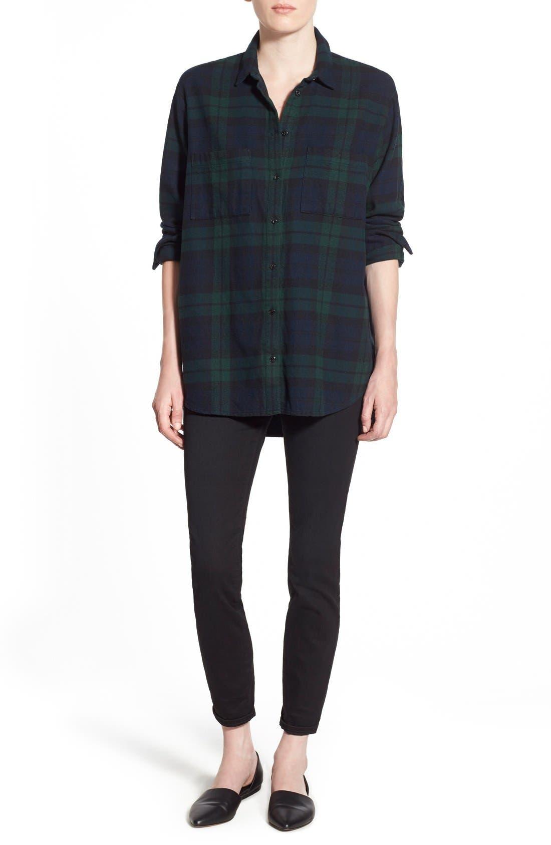 Alternate Image 2  - Madewell Plaid Oversize Cotton Shirt