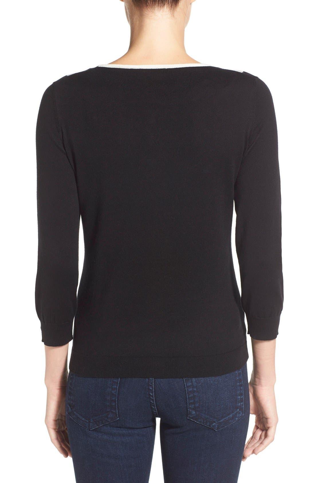 Alternate Image 2  - CeCe by Cynthia Steffe Peter Pan Collar Sweater