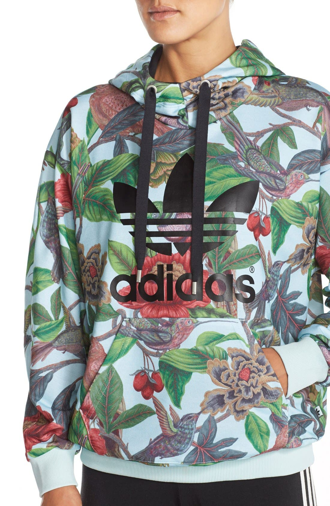 Alternate Image 4  - adidas Originals 'Florera - Battle of the Birds' Hoodie