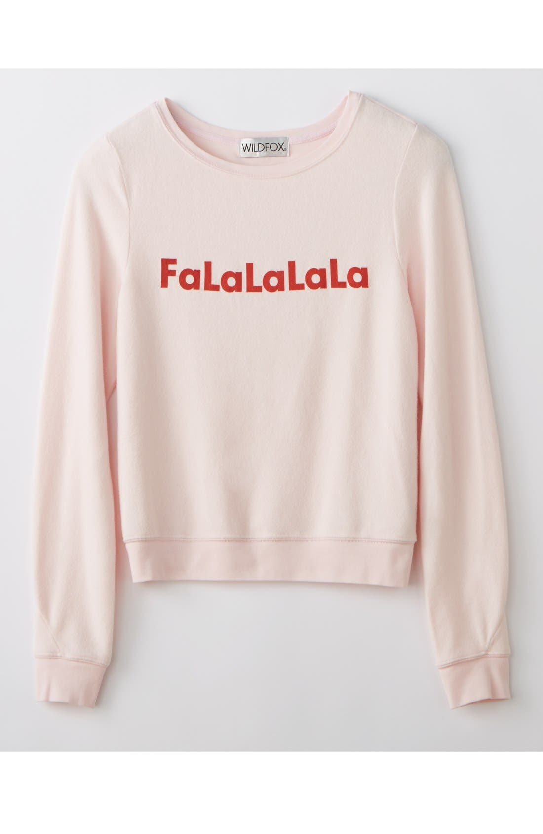 Alternate Image 6  - Wildfox 'Baggy Beach Jumper - FaLaLaLa' Pullover