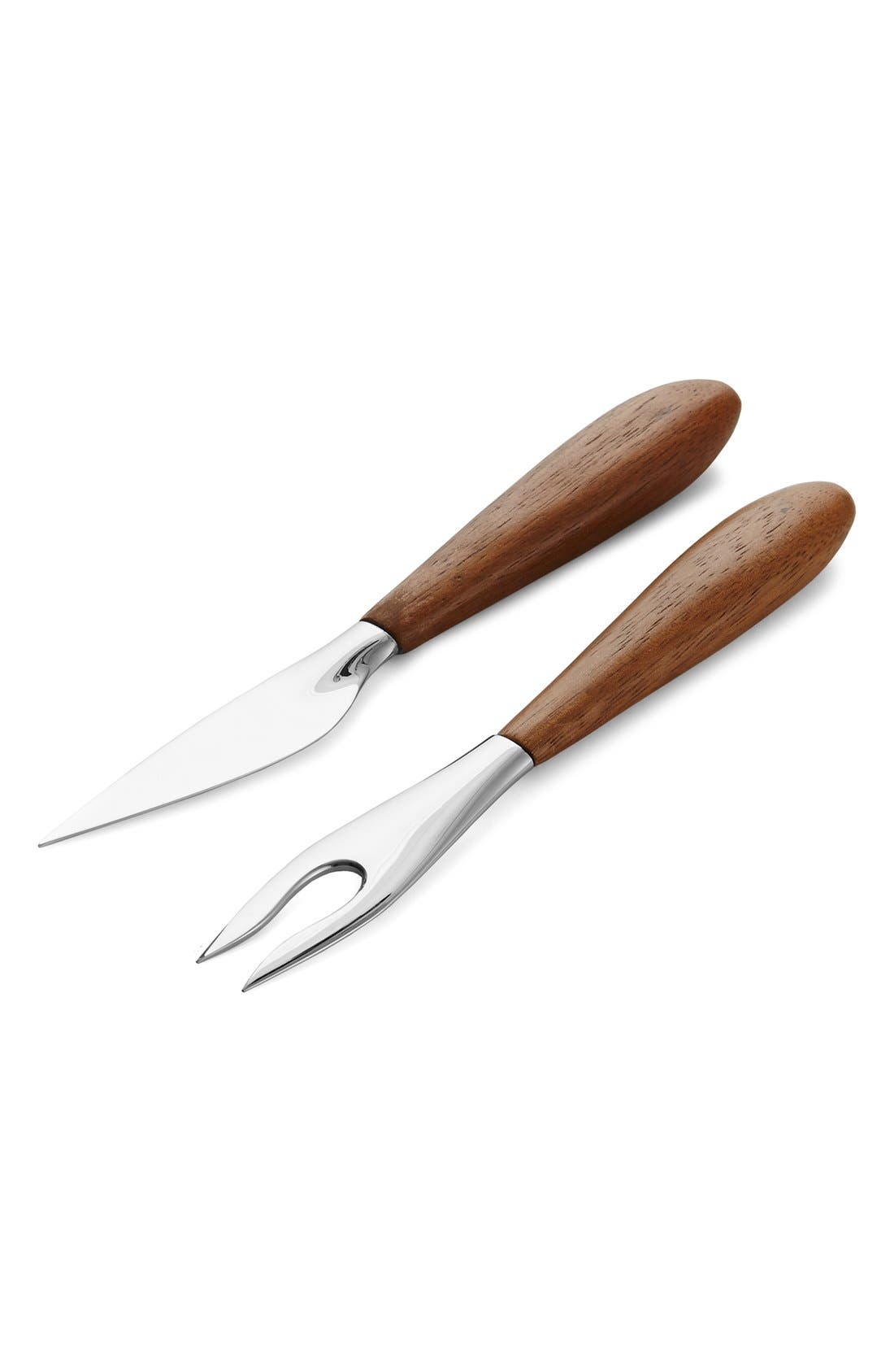 NAMBÉ 'Curvo' Cheese Knife & Fork