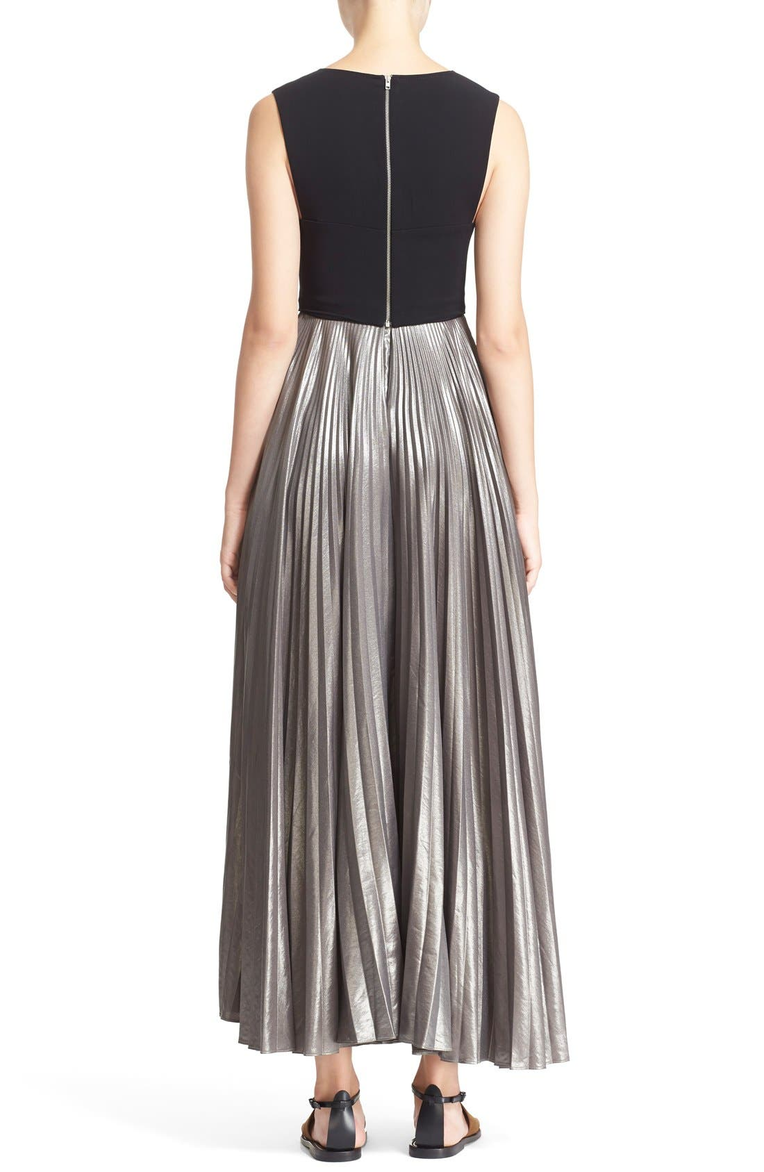 Alternate Image 2  - A.L.C. 'Emilia' Pleated Midi Dress