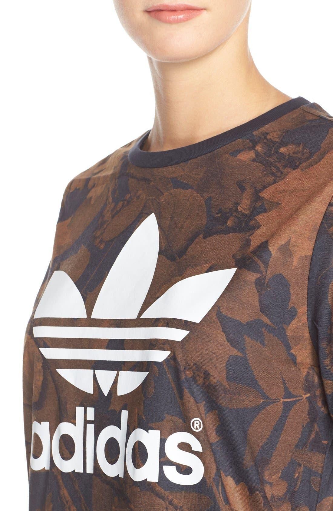 Alternate Image 4  - adidas Originals Leaf Print Crewneck Tee