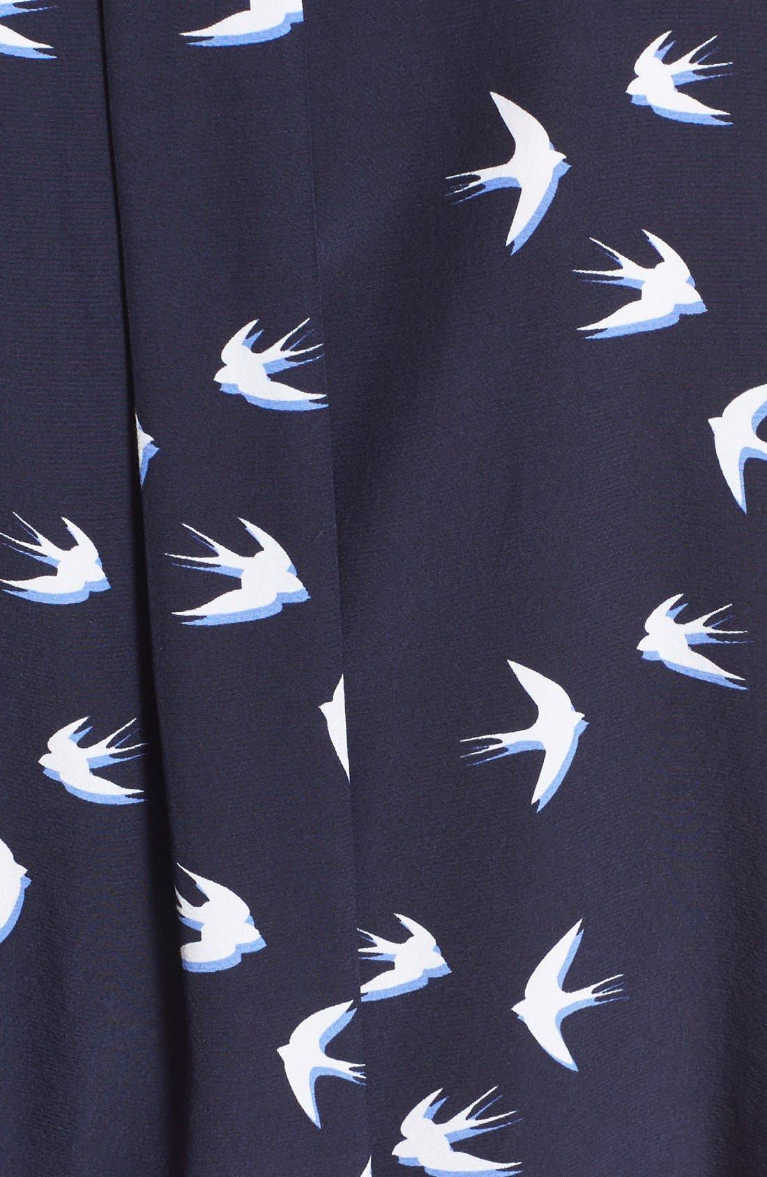 Alternate Image 5  - kate spade new york 'winter' print shirtdress