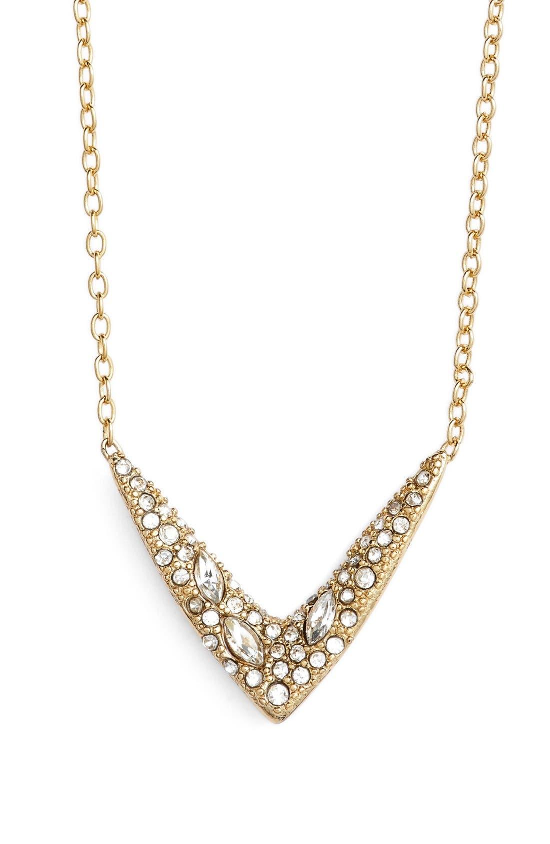 Main Image - Alexis Bittar 'Miss Havisham' Encrusted V Pendant Necklace