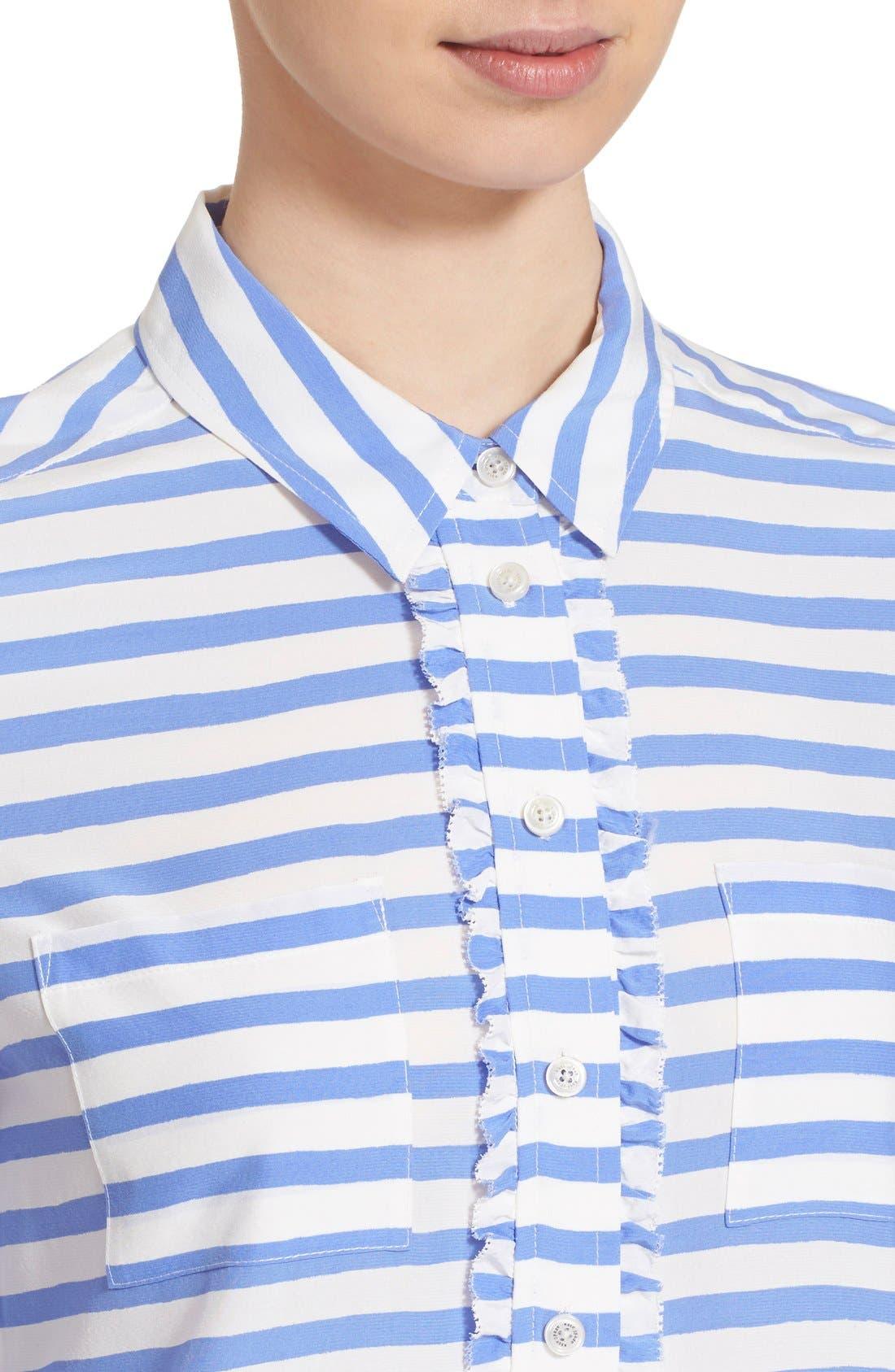 Alternate Image 4  - kate spade new york stripe shirt