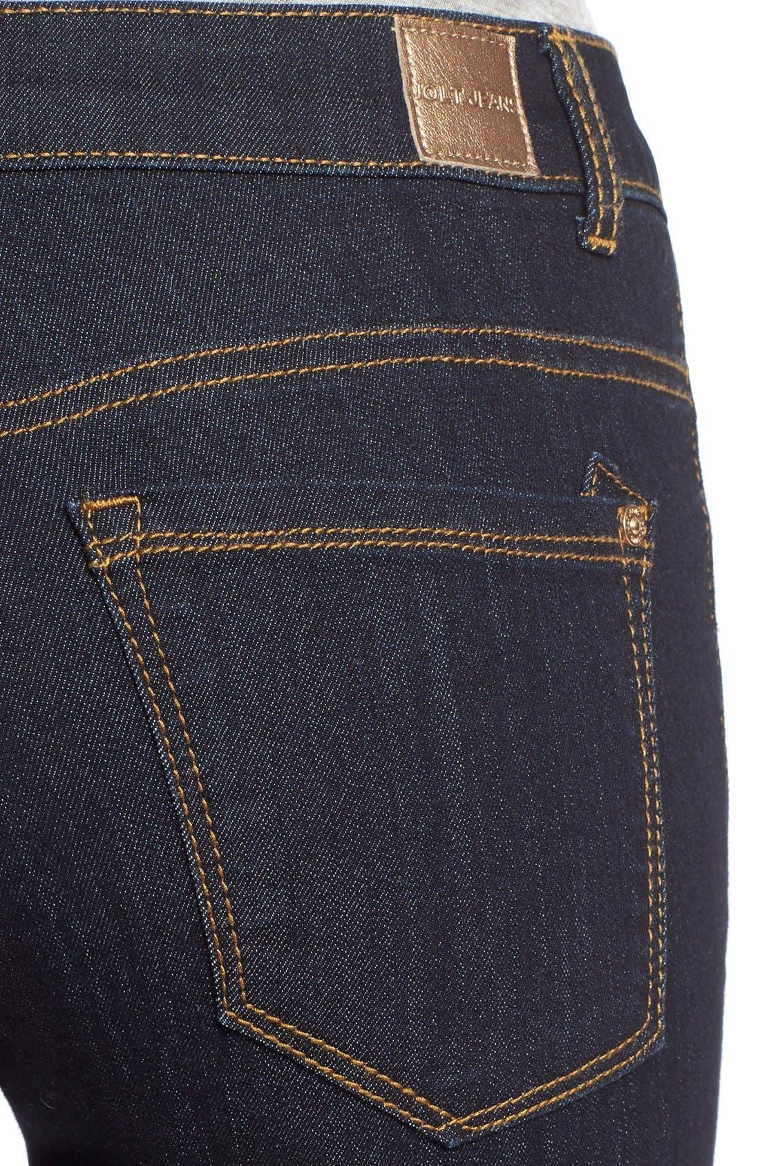 Alternate Image 4  - Jolt Skinny Jeans (Indigo)