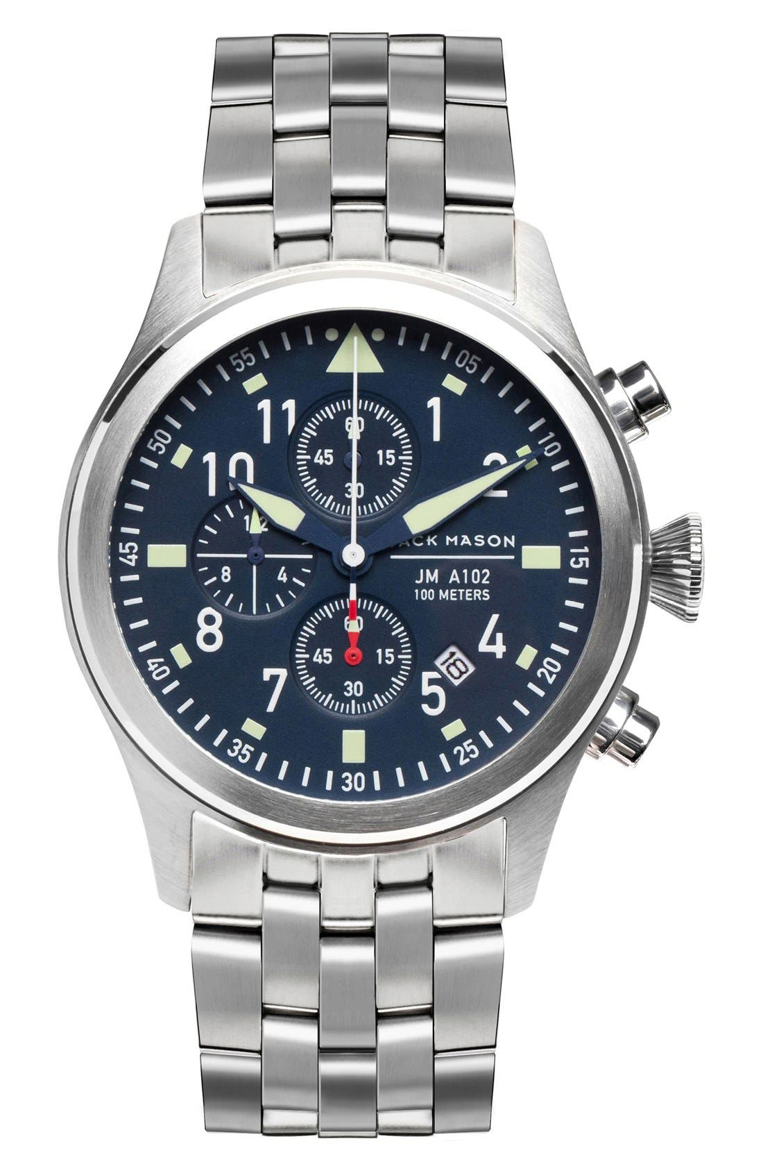 Jack Mason Aviation Chronograph Bracelet Watch, 42mm