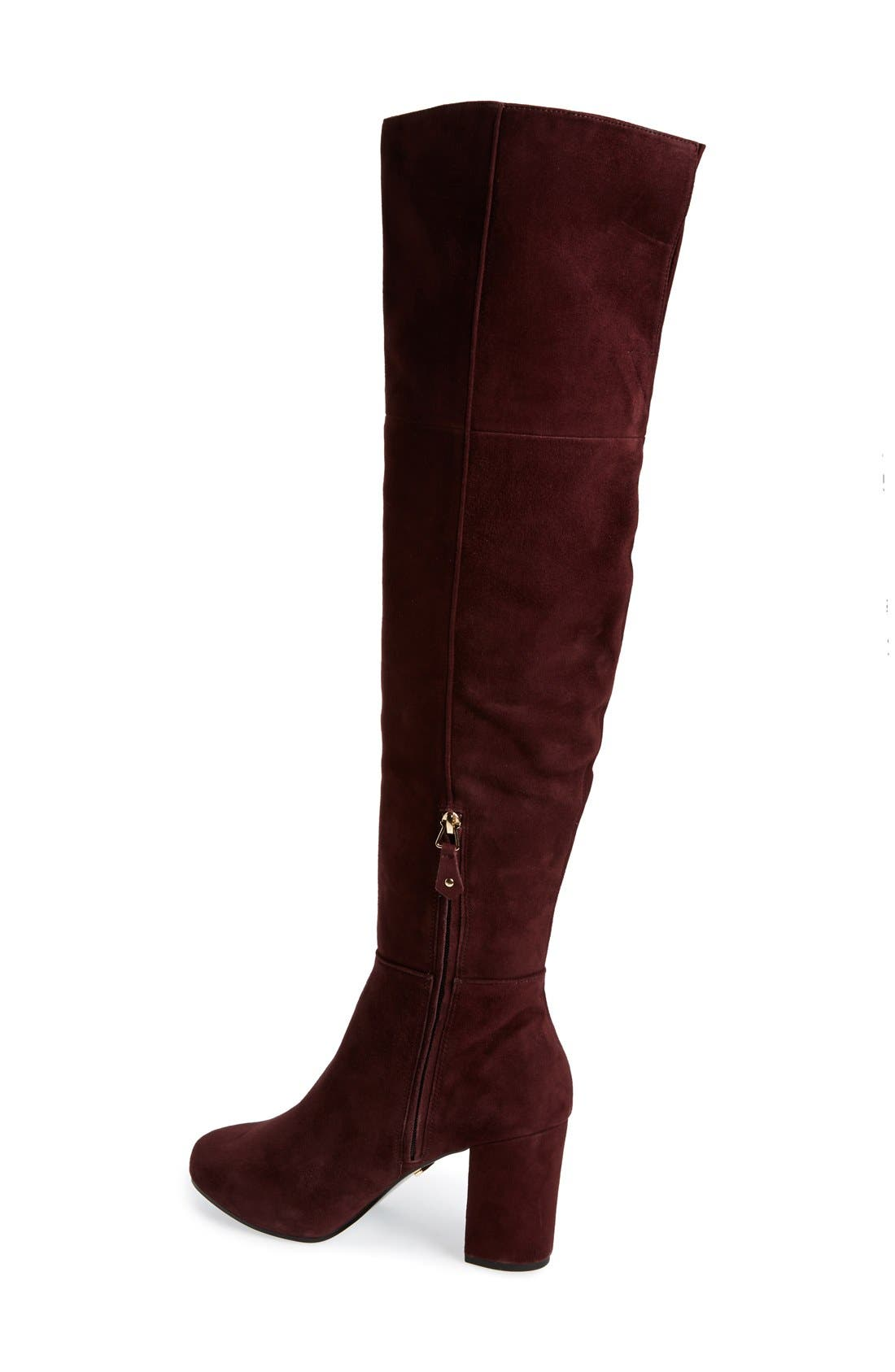 Alternate Image 2  - Topshop 'Count' Over the Knee Boot (Women)