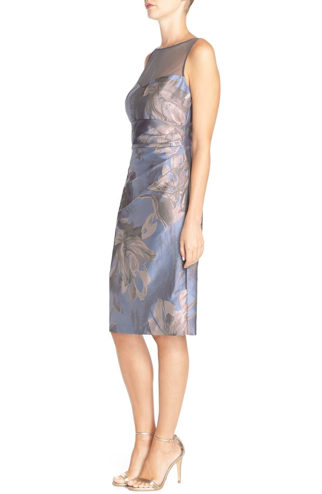 Alternate Image 3  - Maggy London 'Splash' Floral Jacquard Sheath Dress (Regular & Petite)