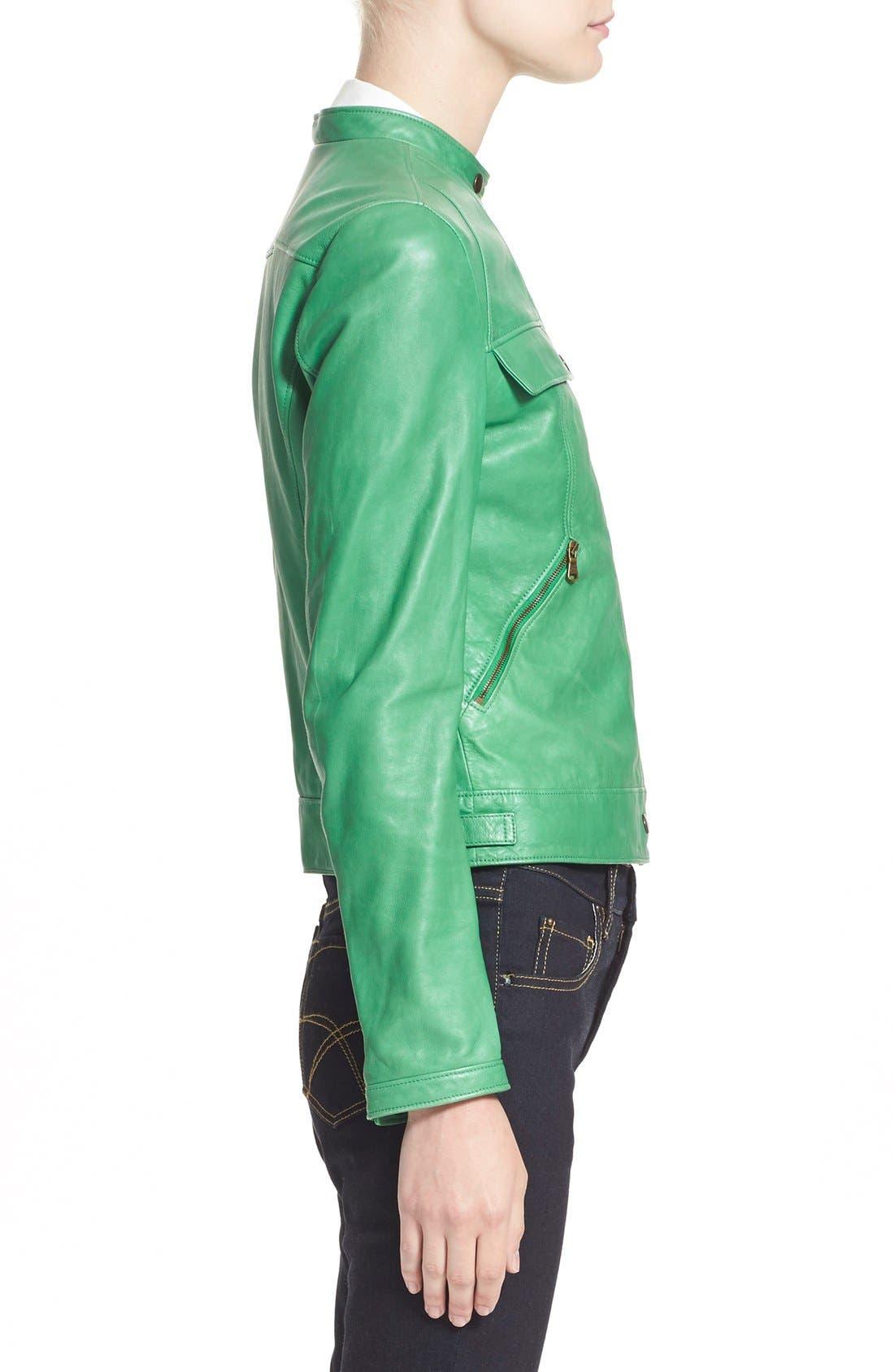 Alternate Image 4  - Tomas Maier Nappa Leather Moto Jacket