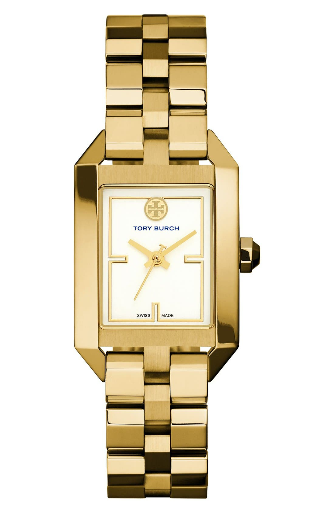 Alternate Image 1 Selected - Tory Burch 'Dalloway' Bracelet Watch, 23mm x 35mm