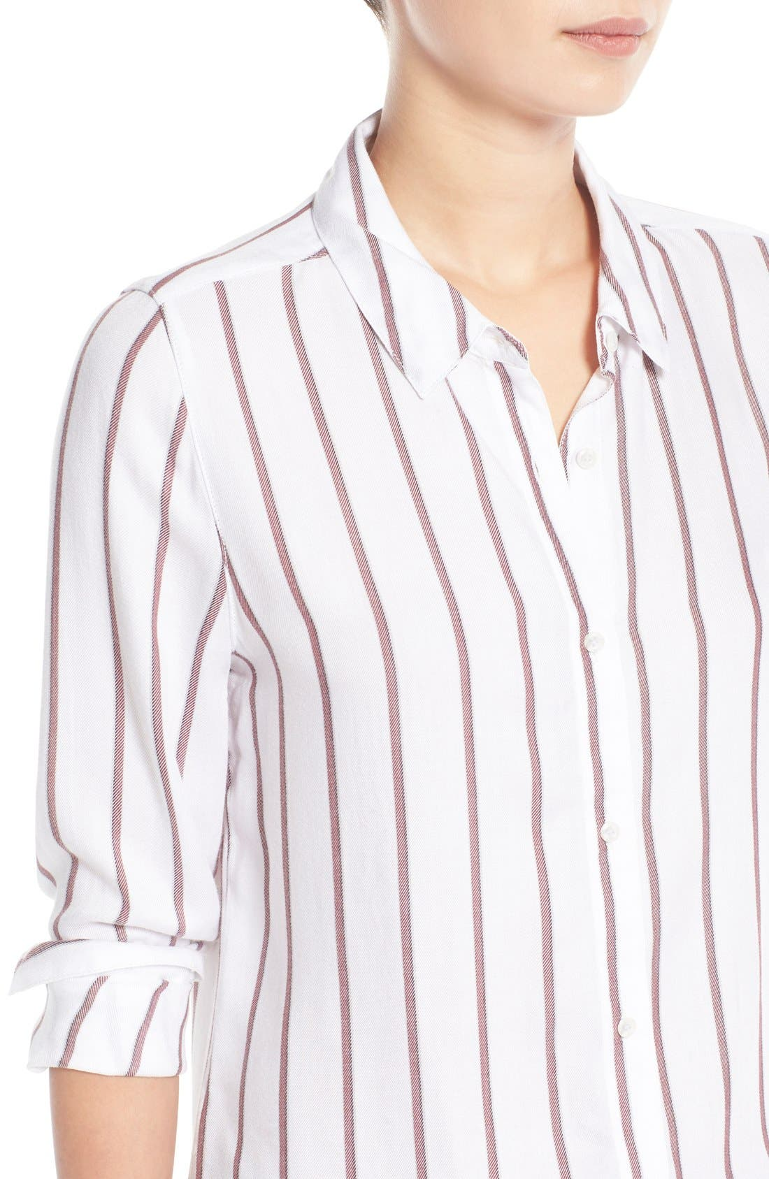 Alternate Image 4  - Treasure&Bond Stripe Button Front Tunic Shirt