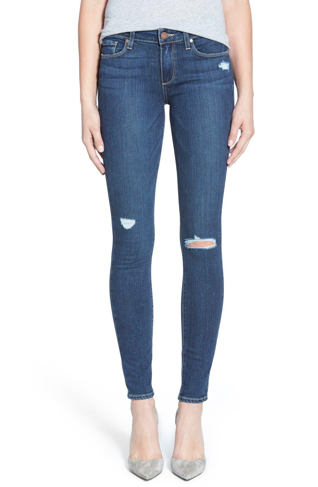 Main Image - Paige Denim 'Transcend - Verdugo' Ultra Skinny Jeans (Elia Destructed)