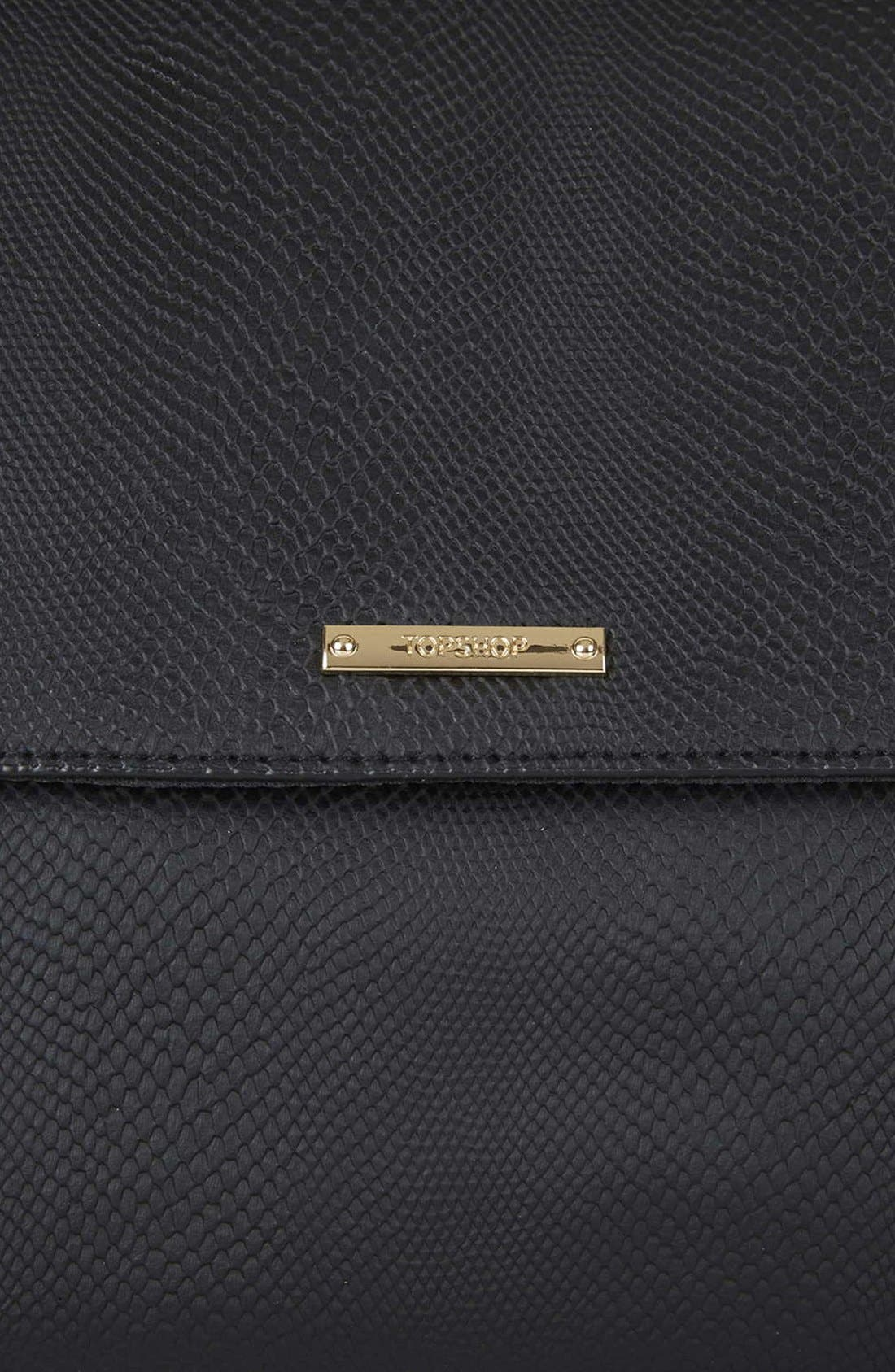 Alternate Image 4  - Topshop Faux Leather Envelope Clutch