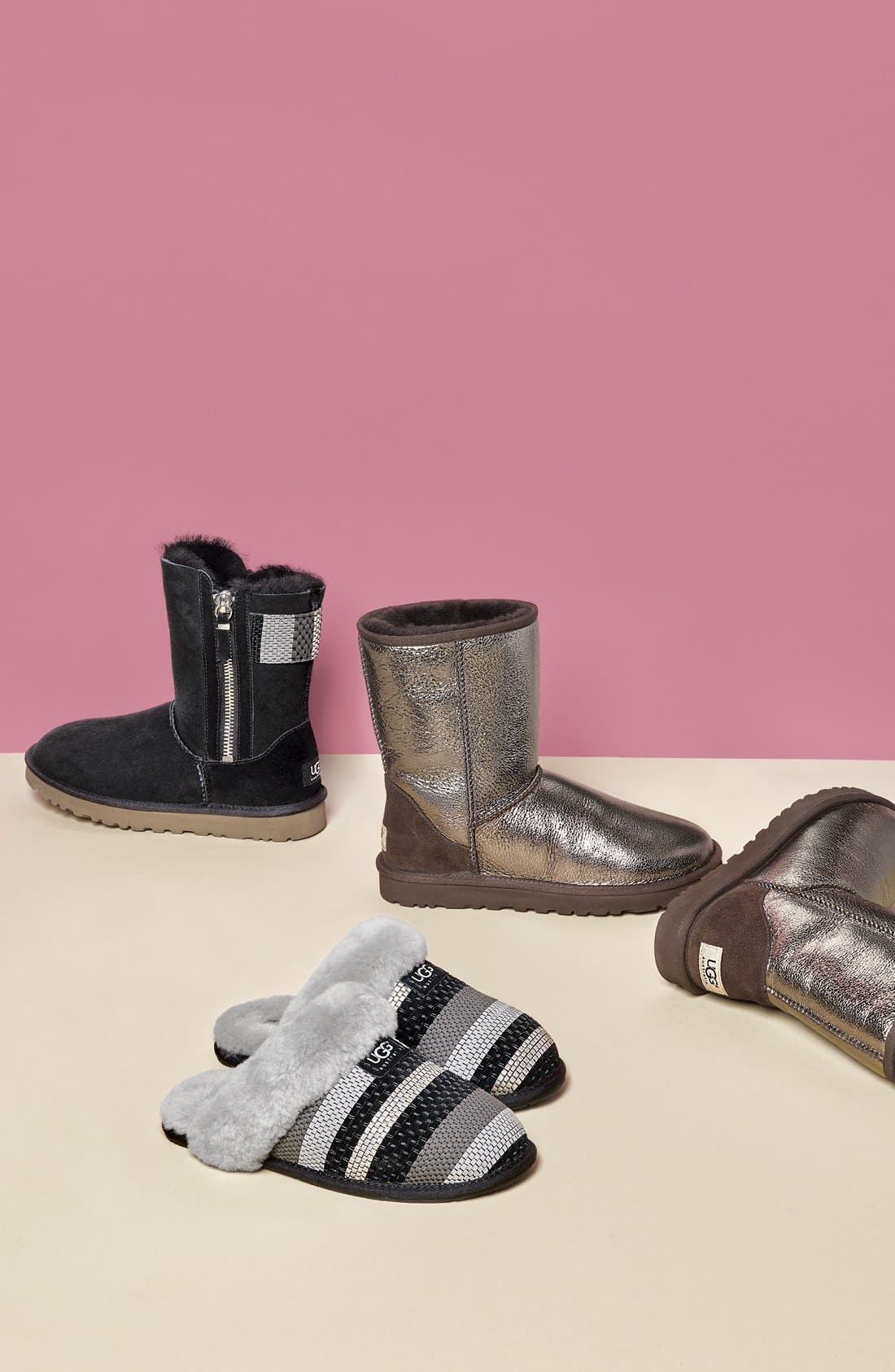 Alternate Image 5  - UGG® 'Classic Short - Metallic' Boot (Women)