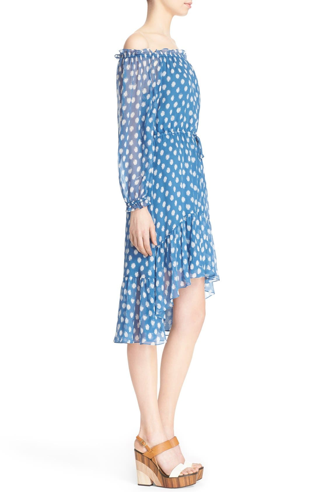 Alternate Image 3  - Diane von Furstenberg 'Camila Two' Off the Shoulder Polka Dot Silk Dress
