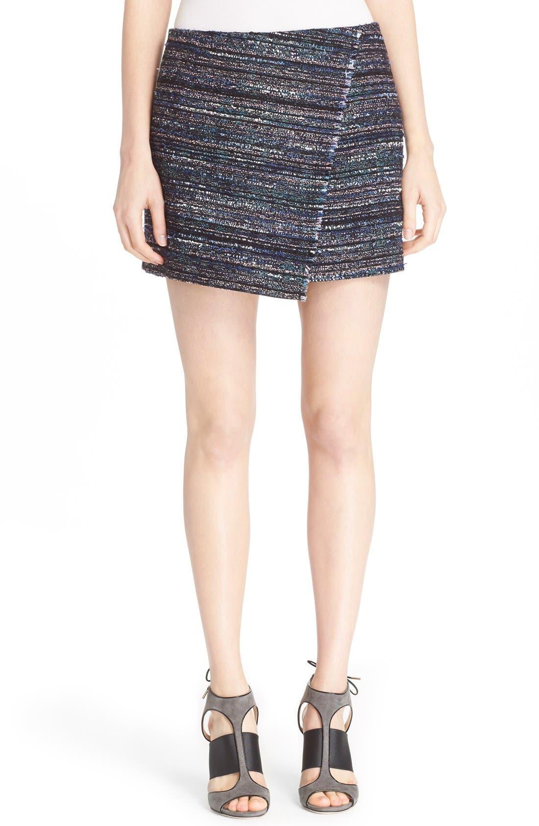 Main Image - Diane von Furstenberg 'Austyn' Woven Tweed Miniskirt