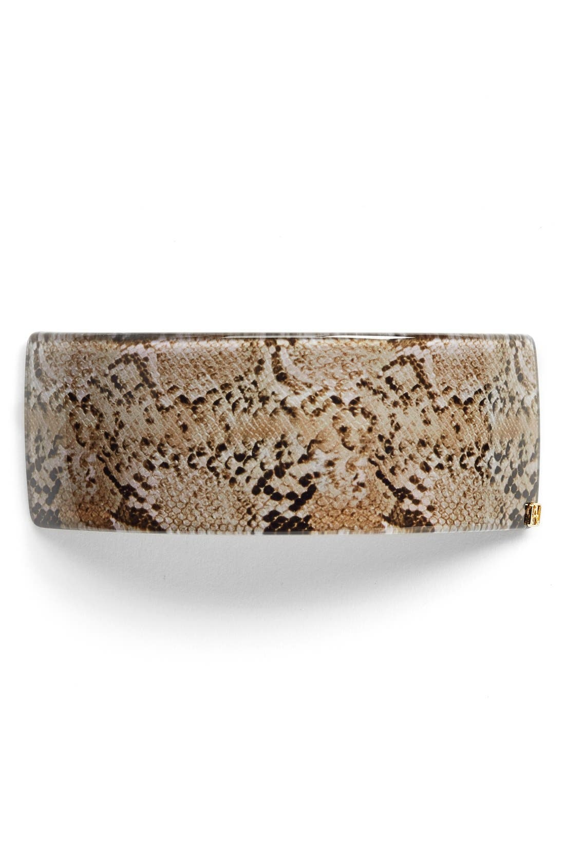 ALEXANDRE DE PARIS 'Animal' Print Ponytail Barrette