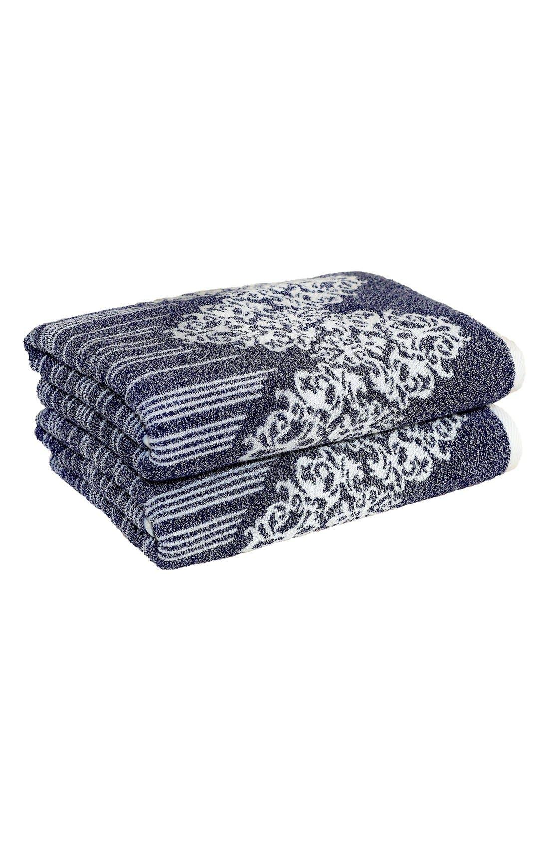Alternate Image 1 Selected - Linum 'Gioia' Turkish Cotton Bath Towels (Set of 2)