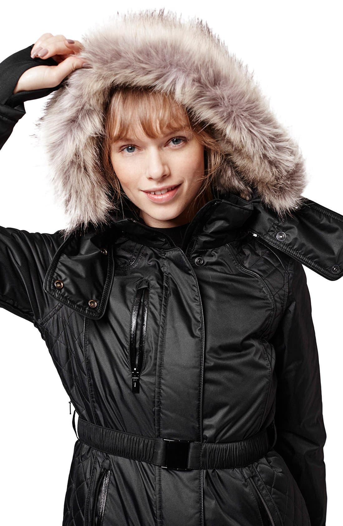 Alternate Image 5  - Topshop 'Catelyn' Faux Fur Belted Jacket