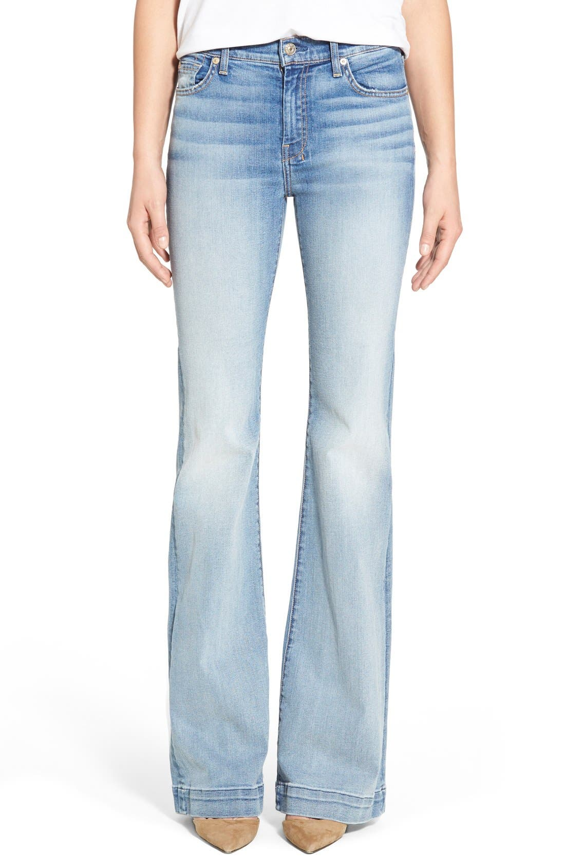 Main Image - 7 For All Mankind® 'Dojo' Wide Leg Jeans