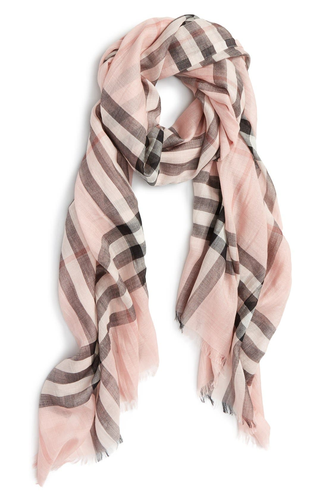 Alternate Image 2  - Burberry Giant Check Print Wool & Silk Scarf