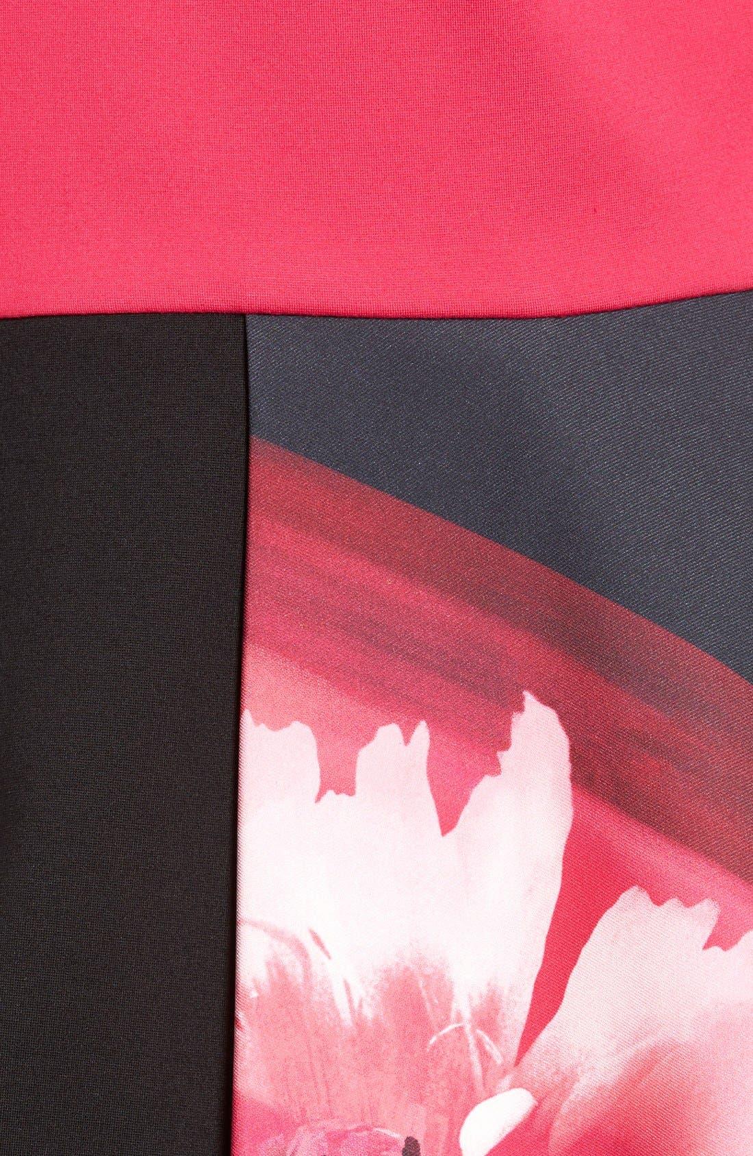 Alternate Image 5  - Ellen Tracy Colorblock Peplum Top (Regular & Petite)