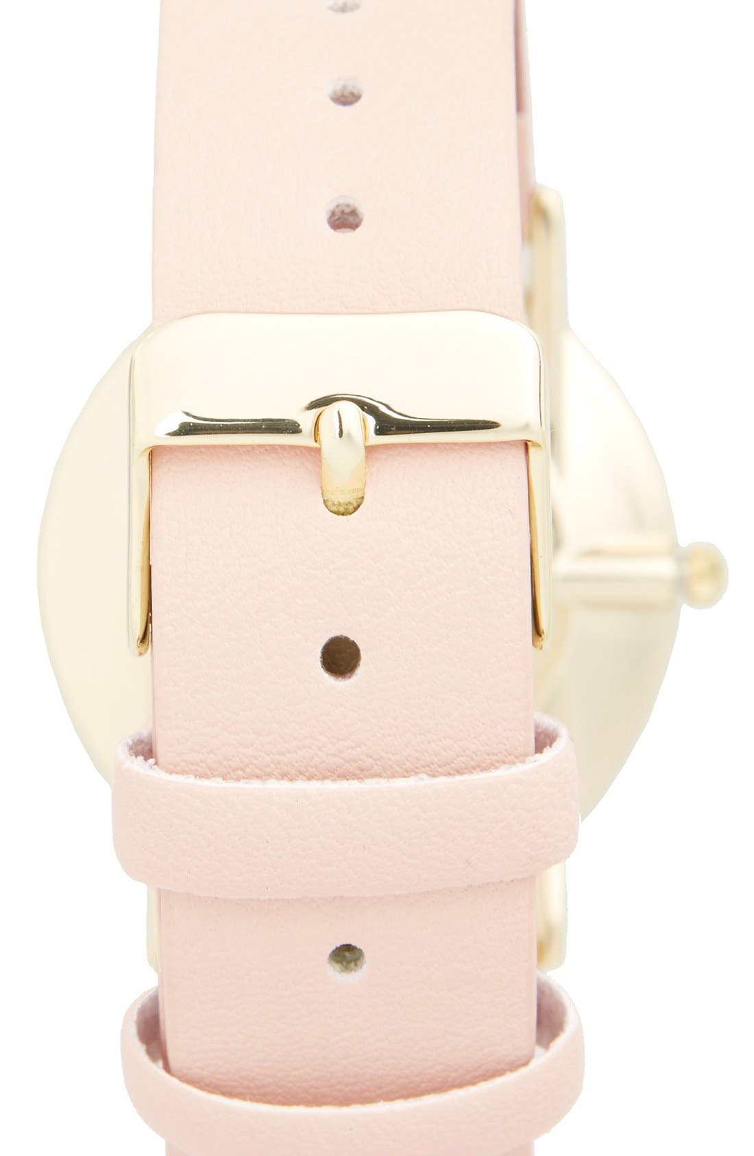 Alternate Image 2  - BP. Round Face Faux Leather Strap Watch, 35mm