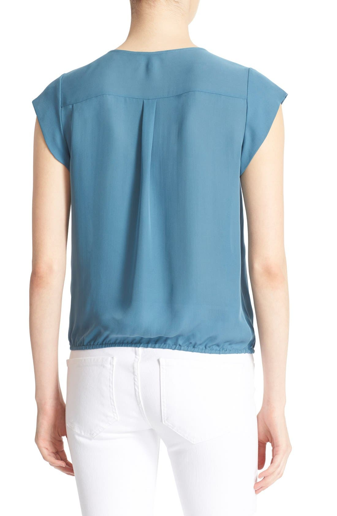 Alternate Image 2  - Joie 'Marcher' Pleated Silk Top