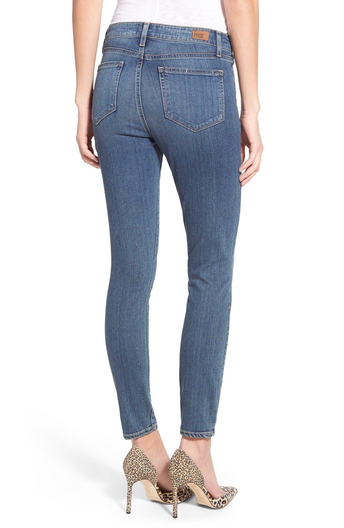 Alternate Image 2  - Paige Denim 'Transcend - Hoxton' High Rise Ankle Ultra Skinny Jeans (Linden)
