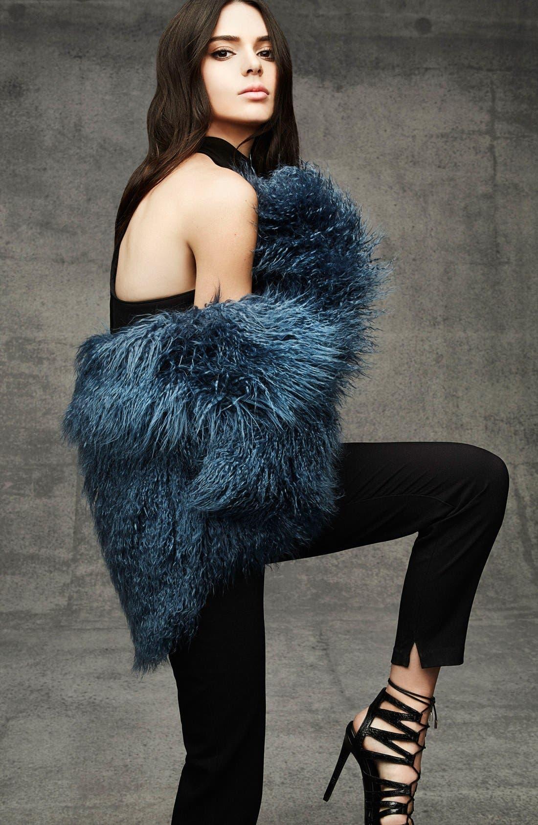 Alternate Image 6  - KENDALL + KYLIE at Topshop Faux Fur Coat
