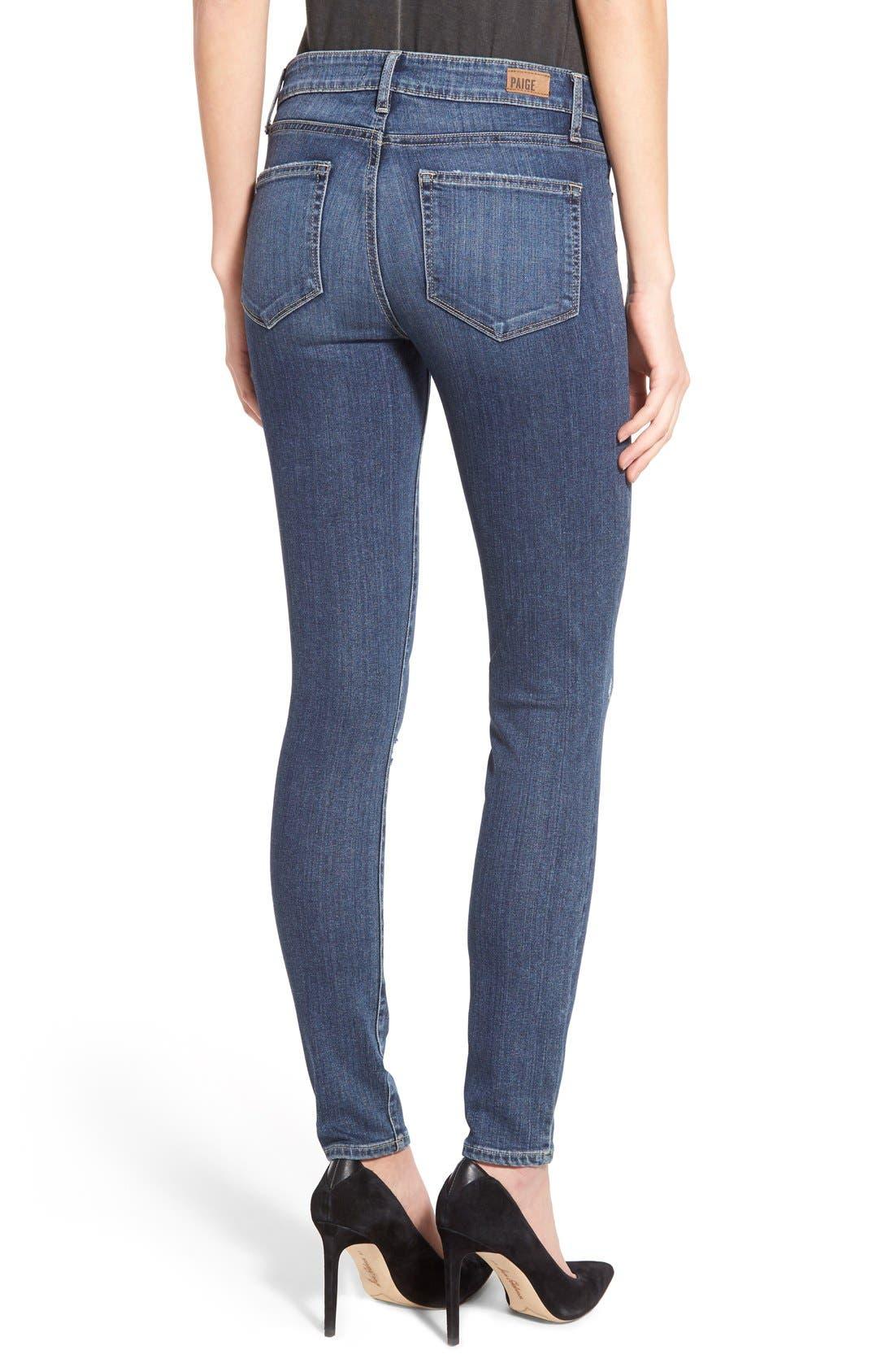 Alternate Image 2  - Paige Denim 'Transcend - Verdugo' Ultra Skinny Jeans (Silas Destructed)