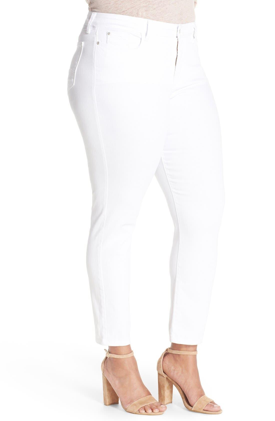 Alternate Image 3  - NYDJ 'Clarissa' Stretch Slim Ankle Jeans (Plus Size)