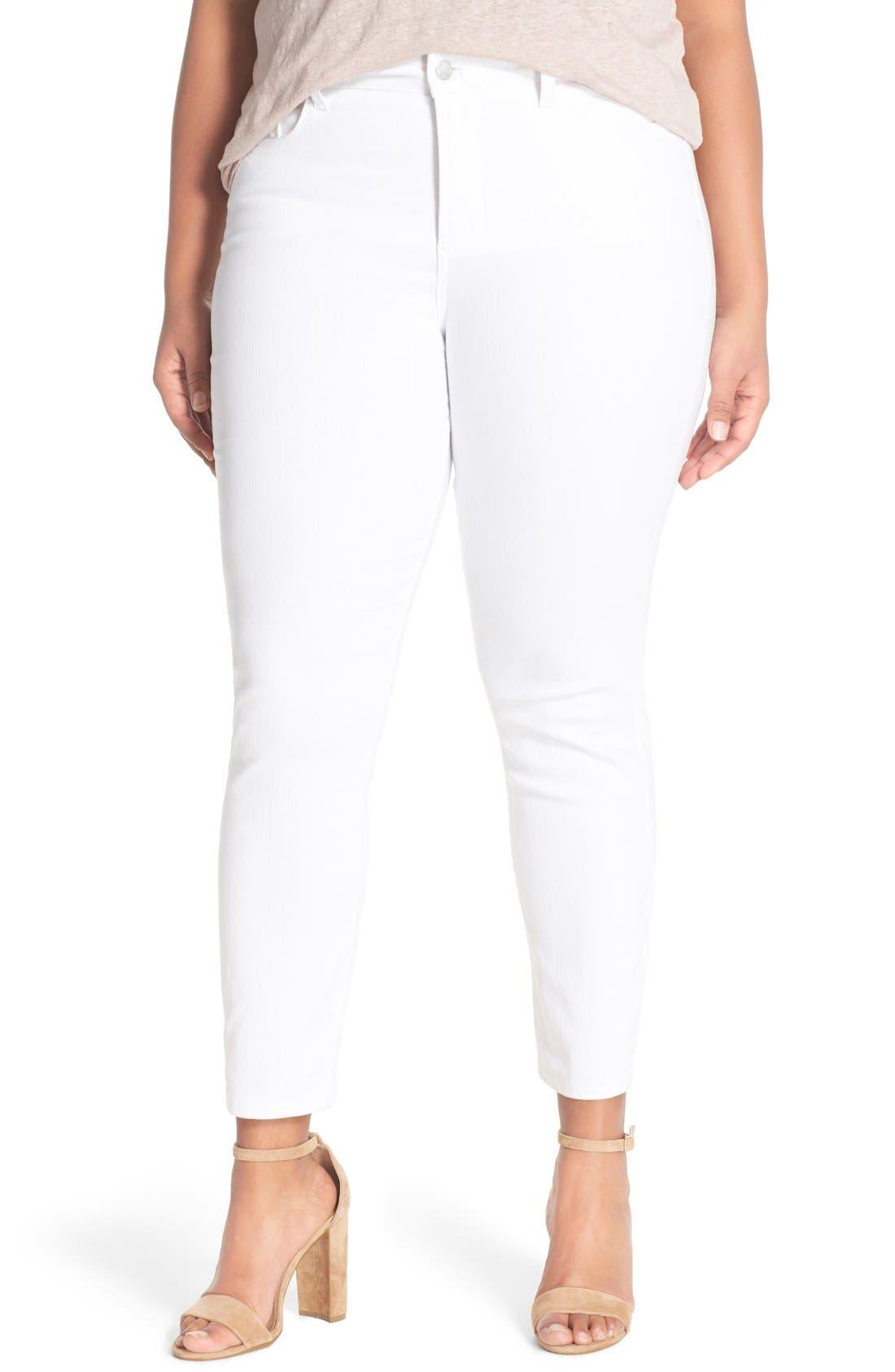 Alternate Image 1 Selected - NYDJ 'Clarissa' Stretch Slim Ankle Jeans (Plus Size)