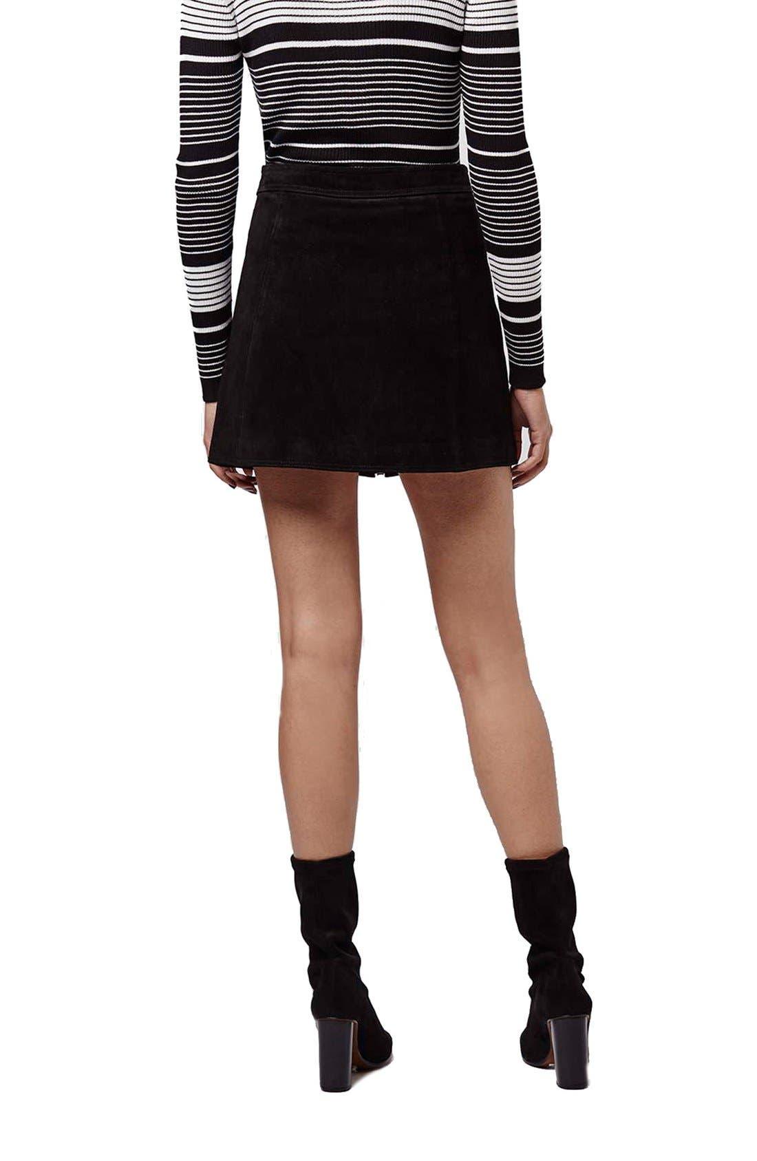Alternate Image 3  - TopshopButton TabSuede Skirt