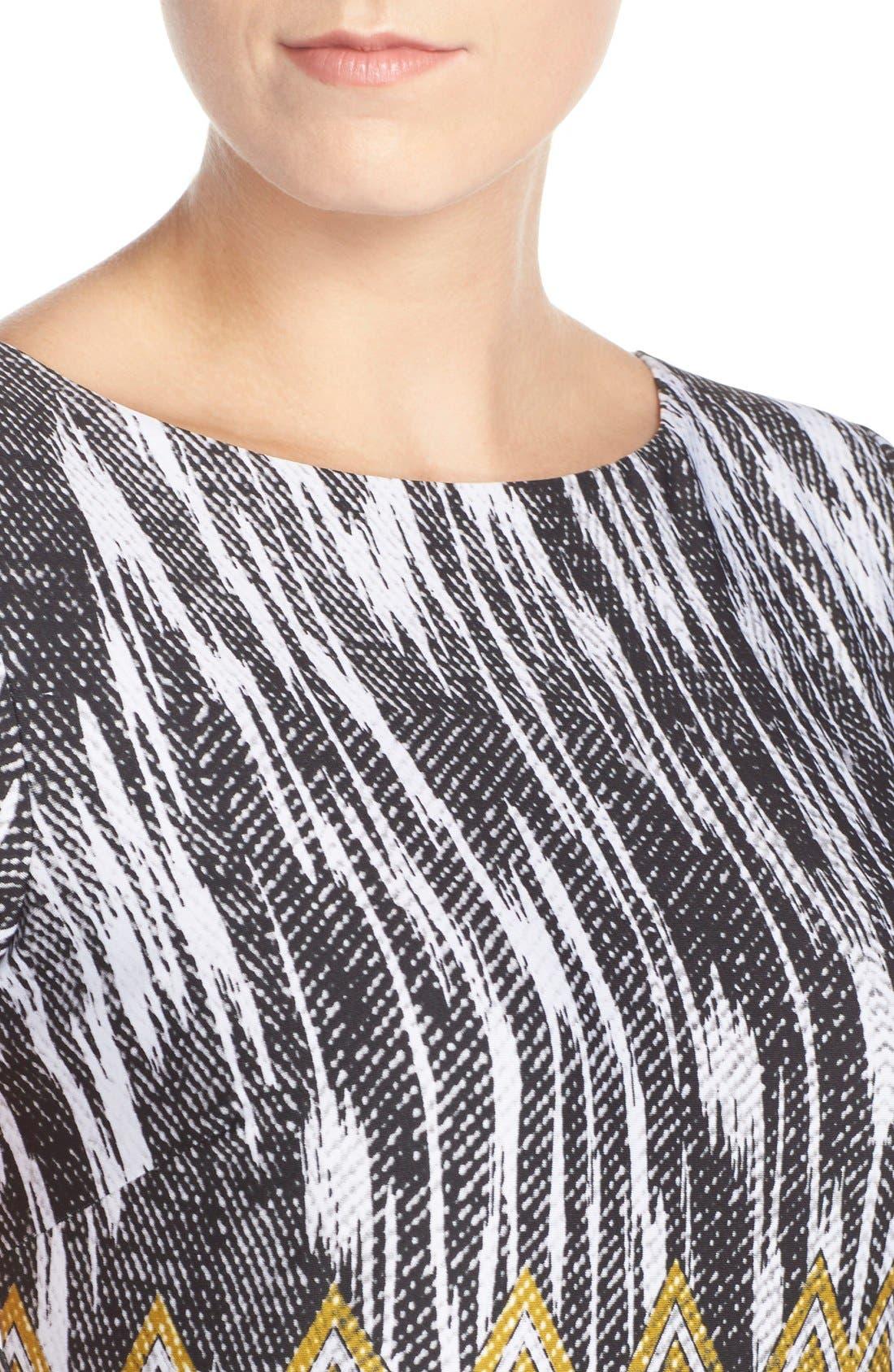 Alternate Image 4  - Ellen Tracy Chevron Print Jersey Sheath Dress