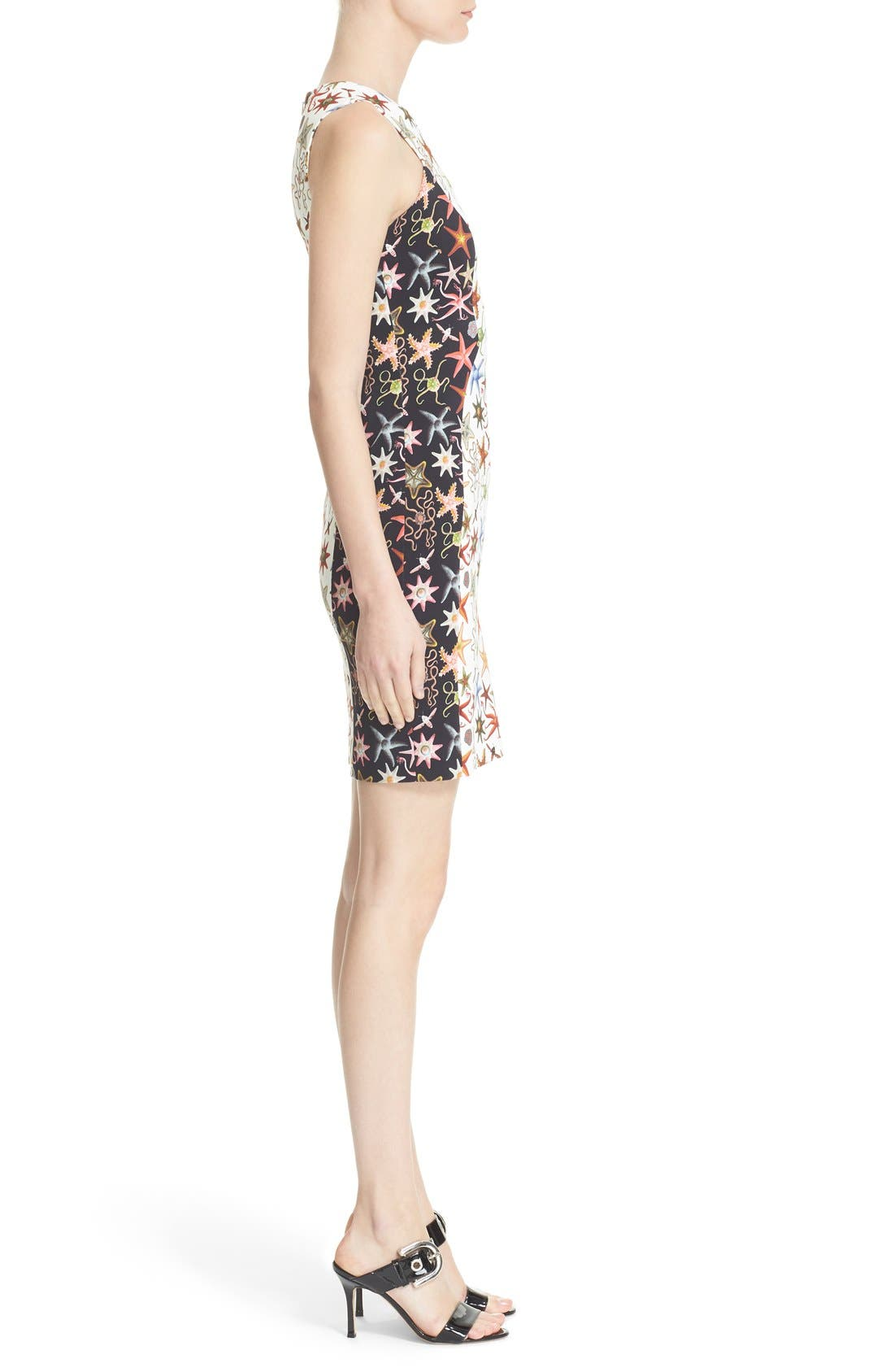 Alternate Image 5  - Versace Collection Starfish Print Bicolor Sheath Dress