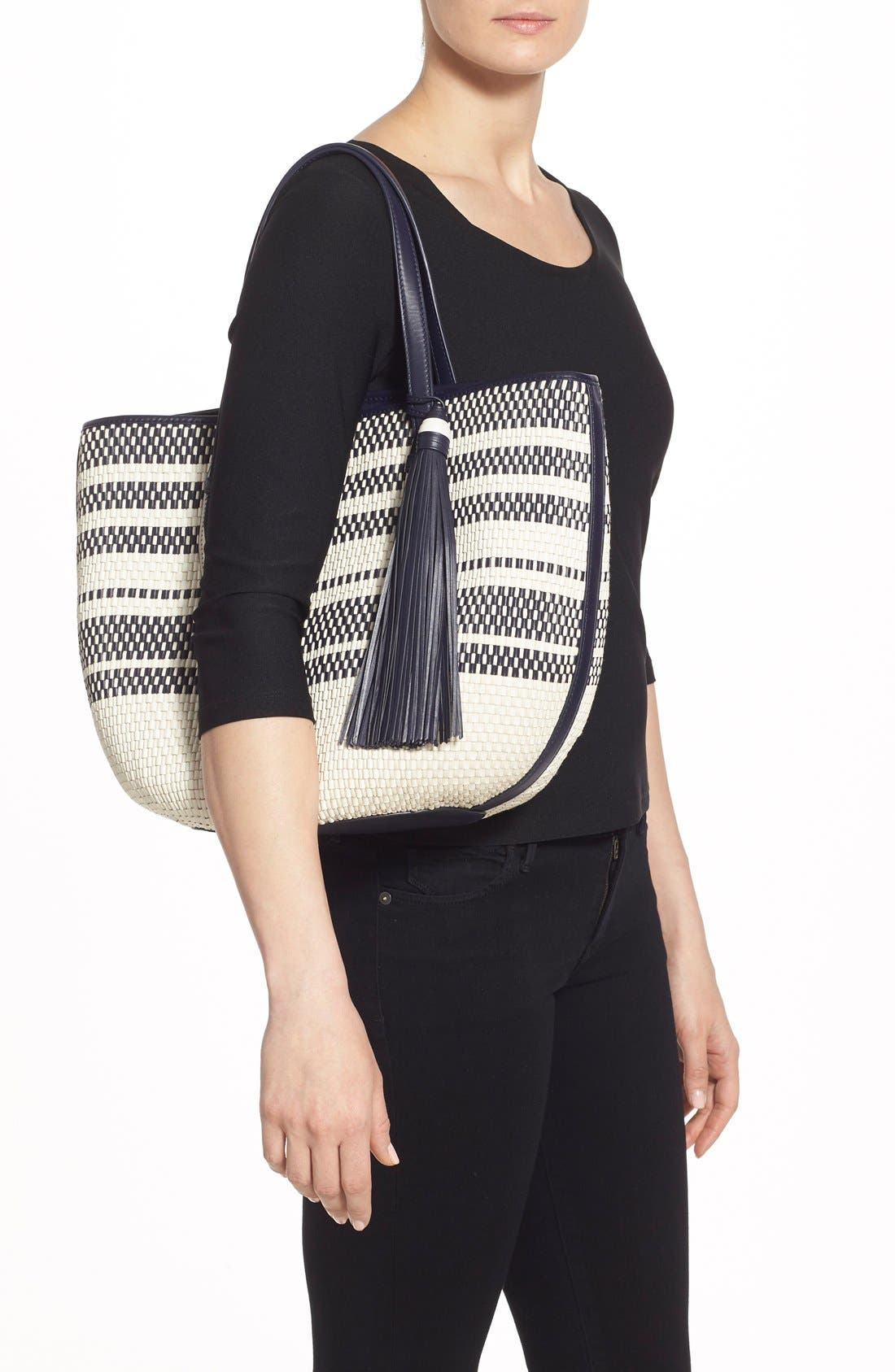 Alternate Image 2  - Tory Burch Woven Leather Tote