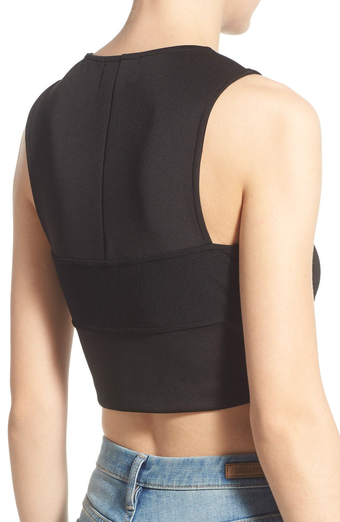 Alternate Image 2  - Madison & Berkeley Side Cutout Crop Tank