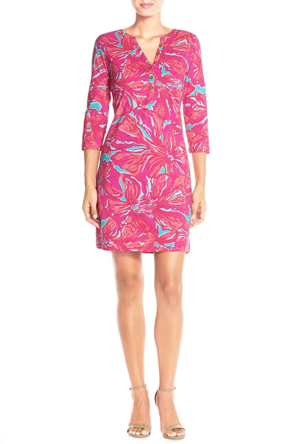 Alternate Image 4  - Lilly Pulitzer® 'Alessia' Print Pima Cotton T-Shirt Dress (Nordstrom Exclusive)