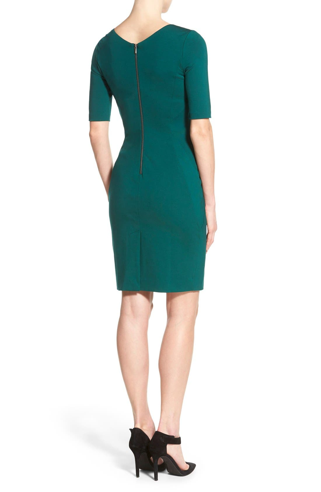 Alternate Image 2  - Halogen® Ponte Dress (Regular & Petite)